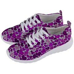 Sparkling Hearts Purple Men s Lightweight Sports Shoes by MoreColorsinLife