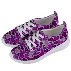 Sparkling Hearts Purple Women s Lightweight Sports Shoes by MoreColorsinLife