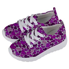 Sparkling Hearts Purple Kids  Lightweight Sports Shoes by MoreColorsinLife