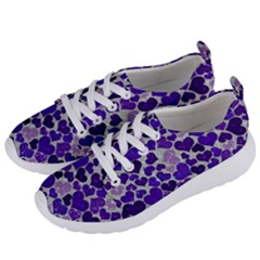 Sparkling Hearts Blue Women s Lightweight Sports Shoes by MoreColorsinLife