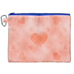 Soft Hearts C Canvas Cosmetic Bag (xxl) by MoreColorsinLife