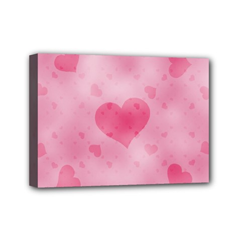 Soft Hearts A Mini Canvas 7  X 5  by MoreColorsinLife