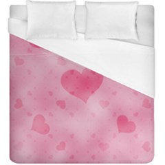 Soft Hearts A Duvet Cover (king Size) by MoreColorsinLife