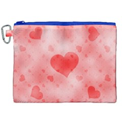 Soft Hearts B Canvas Cosmetic Bag (xxl) by MoreColorsinLife
