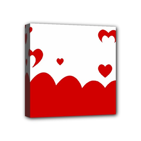 Heart Shape Background Love Mini Canvas 4  X 4