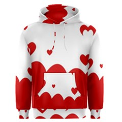 Heart Shape Background Love Men s Pullover Hoodie by Nexatart