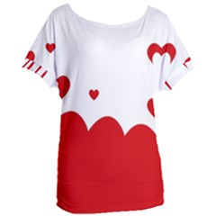 Heart Shape Background Love Women s Oversized Tee