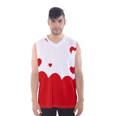 Heart Shape Background Love Men s Basketball Tank Top by Nexatart