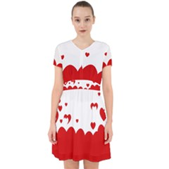Heart Shape Background Love Adorable In Chiffon Dress