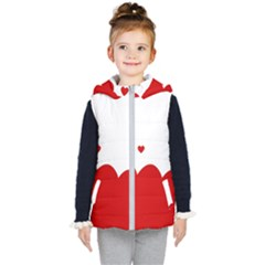 Heart Shape Background Love Kid s Puffer Vest by Nexatart