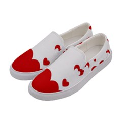 Heart Shape Background Love Women s Canvas Slip Ons by Nexatart