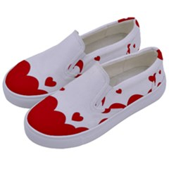 Heart Shape Background Love Kids  Canvas Slip Ons by Nexatart