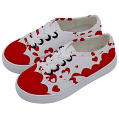 Heart Shape Background Love Kids  Classic Low Top Sneakers by Nexatart
