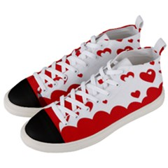 Heart Shape Background Love Men s Mid Top Canvas Sneakers by Nexatart