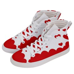 Heart Shape Background Love Men s Hi Top Skate Sneakers by Nexatart