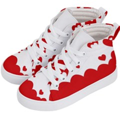 Heart Shape Background Love Kid s Hi Top Skate Sneakers by Nexatart