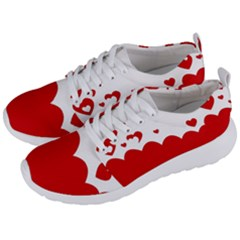 Heart Shape Background Love Men s Lightweight Sports Shoes by Nexatart