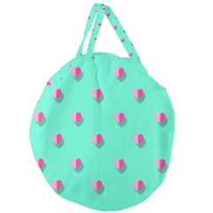Love Heart Set Seamless Pattern Giant Round Zipper Tote