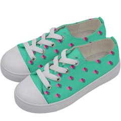 Love Heart Set Seamless Pattern Kids  Low Top Canvas Sneakers by Nexatart