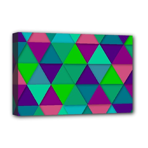 Background Geometric Triangle Deluxe Canvas 18  X 12