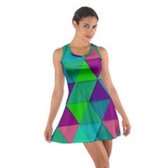 Background Geometric Triangle Cotton Racerback Dress