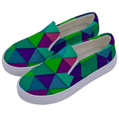 Background Geometric Triangle Kids  Canvas Slip Ons by Nexatart