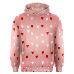 Heart Shape Background Love Men s Overhead Hoodie