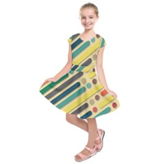 Background Vintage Desktop Color Kids  Short Sleeve Dress by Nexatart