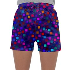 Squares Square Background Abstract Sleepwear Shorts