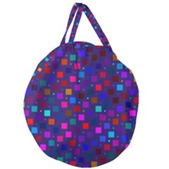 Squares Square Background Abstract Giant Round Zipper Tote