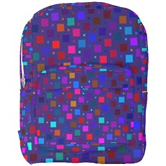 Squares Square Background Abstract Full Print Backpack