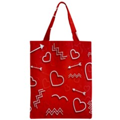 Background Valentine S Day Love Zipper Classic Tote Bag by Nexatart