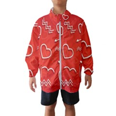 Background Valentine S Day Love Wind Breaker (kids) by Nexatart