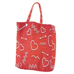Background Valentine S Day Love Giant Grocery Zipper Tote