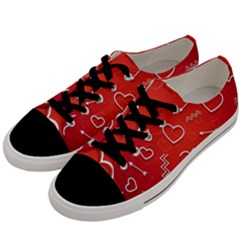 Background Valentine S Day Love Men s Low Top Canvas Sneakers by Nexatart