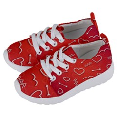 Background Valentine S Day Love Kids  Lightweight Sports Shoes by Nexatart