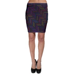 Lines Line Background Bodycon Skirt
