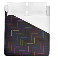 Lines Line Background Duvet Cover (queen Size)