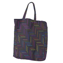 Lines Line Background Giant Grocery Zipper Tote