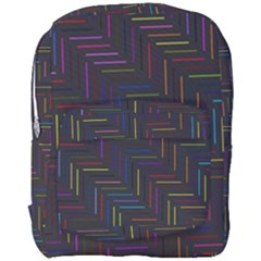 Lines Line Background Full Print Backpack