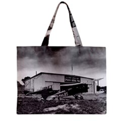 Omaha Airfield Airplain Hangar Zipper Mini Tote Bag by Nexatart