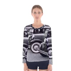 Vehicle Car Transportation Vintage Women s Long Sleeve Tee