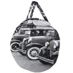 Vehicle Car Transportation Vintage Giant Round Zipper Tote