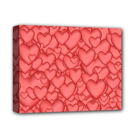 Background Hearts Love Deluxe Canvas 14  X 11