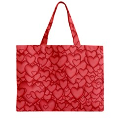Background Hearts Love Zipper Mini Tote Bag