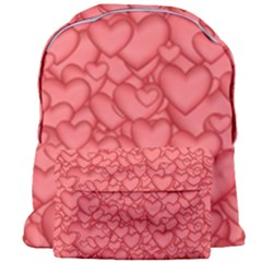 Background Hearts Love Giant Full Print Backpack