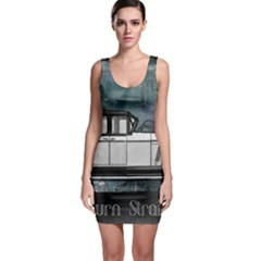 Vintage Car Automobile Auburn Bodycon Dress