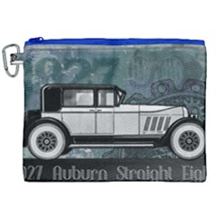 Vintage Car Automobile Auburn Canvas Cosmetic Bag (xxl) by Nexatart