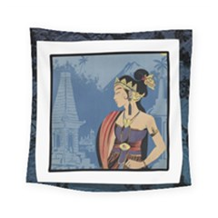 Java Indonesia Girl Headpiece Square Tapestry (small)