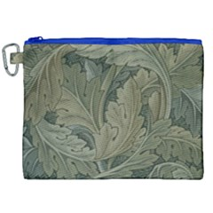 Vintage Background Green Leaves Canvas Cosmetic Bag (xxl) by Nexatart